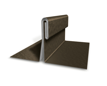 PREFA Band 0,70/650mm P.10 stucco Prefalz 60kg je Rolle ca.49m Braun