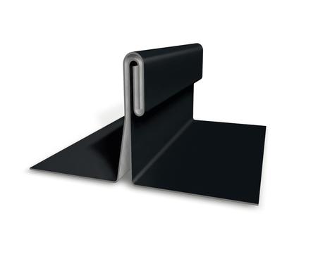 PREFA Band 0,70/500mm P.10 glatt Prefalz 60kg je Rolle ca. 63m Schwarz