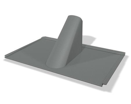 PREFA Einfassungsplatte P. 10 für Dachplatte R16/FX12 Hellgrau