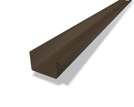 PREFA 6-teilige Rinne Kasten 0,70mm 5,0m Nennweite 333mm Braun