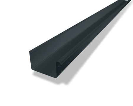 PREFA 6-teilige Dachrinne Kasten 0,70 mm 5,0 m Nennweite 333 mm Anthrazit