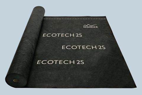 Braas Unterdeckbahn Ecotech 2S für Schalung, integrierter Doppelklebezone Schwarz