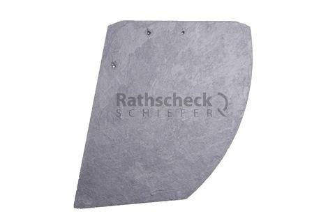 Rathscheck Schiefer Deckung 42 cm stumpfer Hieb links InterSin sortiert behandelt und gelocht Schiefergrube 120