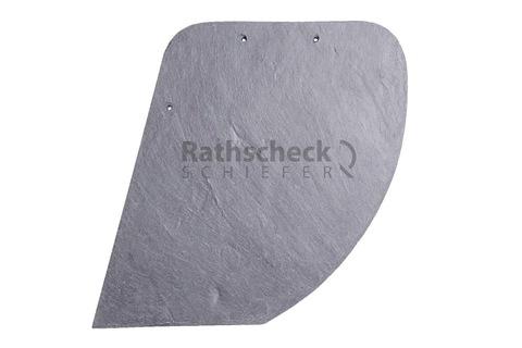 Rathscheck Schiefer Schuppen 22x17 cm links InterSin gelocht Bogen rechts Schiefergrube 300