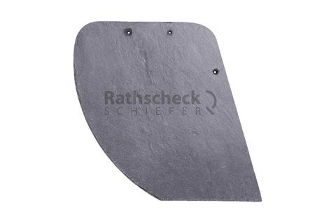 Rathscheck Schiefer Schuppen 36x28 cm rechts InterSin gelocht Bogen links Schiefergrube 300