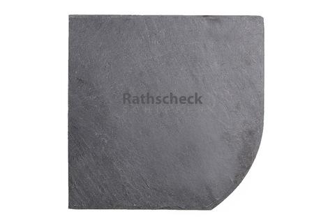 Rathscheck Schiefer Bogen 20x20 cm rechts InterSin ungelocht links Deckung Grube 150