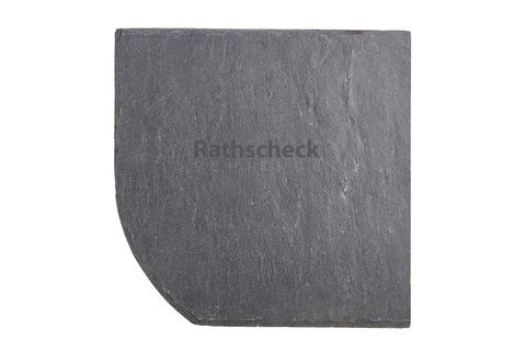 Rathscheck Schiefer Bogen 20x20 cm links InterSin ungelocht rechts Deckung Grube 150