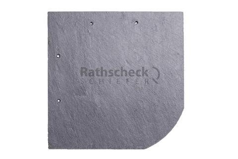 Rathscheck Schiefer Bogen 20x20 cm universal InterSin gelocht Grube 300