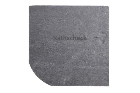 Rathscheck Schiefer Bogen 25x25 cm universal InterSin ungelocht Grube 700