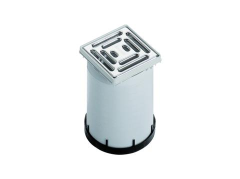Dallmer Aufsatz E10 100x100 mm Kunststoffrahmen, Edelstahlrost Kunststoff