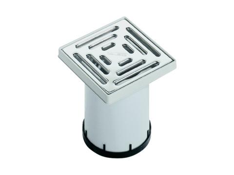 Dallmer Aufsatz KE10 150x150 mm Kunststoffrahmen, Edelstahlrost Kunststoff