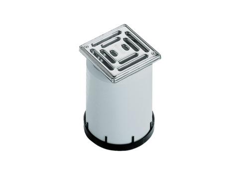 Dallmer Aufsatz ECN10 100x100 mm Edelstahlrahmen, Edelstahlrost Kunststoff