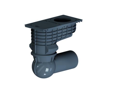 Dallmer Regenwasserablauf 605 mm DN125 mit Kugelgelenk