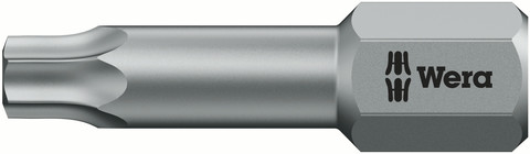 WER BIT TX10 25mm 867/1 TZ TORX DIN 3126-C 6,3