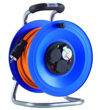 Hedi Kabeltrommel Professional 40 m K2Y40QTF, H07BQ-F3G1,5 IPX4 Spritzwasser geschützt PVC
