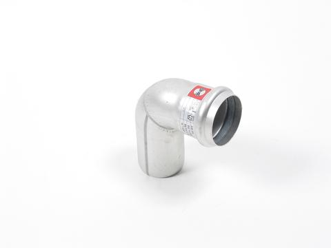 Blücher Rohrbogen 87,5 Grad 50mm DN50 EuroPipe Edelstahl 1.4301