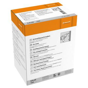Fermacell Fermacell Schrauben 3,9x40mm 1000 Stück im Paket inkl. Bit, für Gipsfaserplatte