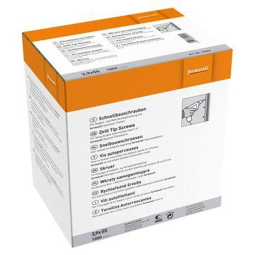 Fermacell Fermacell Schrauben 3,9x55mm 1000 Stück im Paket inkl. Bit, für Gipsfaserplatte