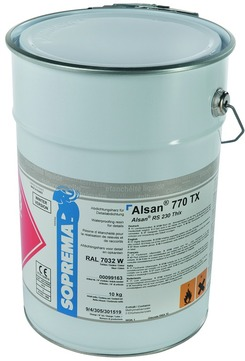 SOPREMA ALSAN 770 TX 10,0 kg RAL 7012 basaltgrau anteilig Katalysator Basaltgrau