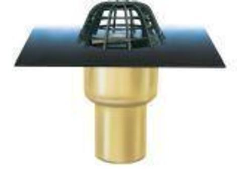 ESSERTEC Gully 2000 senkrecht wärmegedämmt DN 150 essergully mit Kiesfang Bitumen