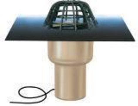 ESSERTEC Gully 2000 senkrecht wärmegedämmt heizbar DN 150 essergully mit Kiesfang Polyvinylchlorid