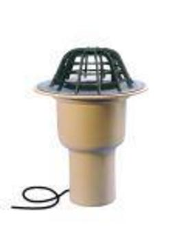 ESSERTEC Gully 2000 senkrecht wärmegedämmt heizbar DN 150 essergully mit Kiesfang und Schraubflansch Flansch