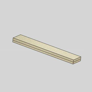 Linzmeier Flachdach Bohle Universal 50 mm Litec 2440x125 mm liegend
