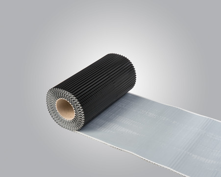 IVT Anschlussband WK-Alu-Flex 300x5000 mm plissiert 5 m/Rolle Schwarz