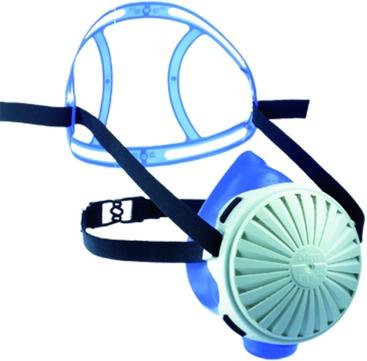 Hauser Halbmaske Picco 20-silicone Universalgröße mit Ausatemventil Blau
