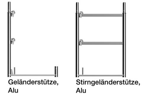 Layher Geländerstütze 1,0x0,73 m Alu