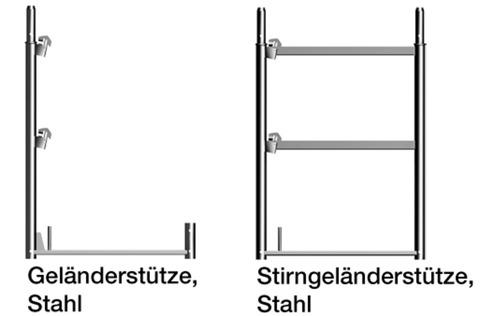 Layher Geländerstütze 1,0x0,73 m Stahl