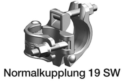 Layher Normalkupplung 9,1 kN 19 Schlüsselweite Stahl