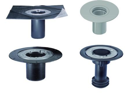 ESSMANN Gully Aufstockeinheit DN125 120 mm Sicherheitsflansch Bitumen