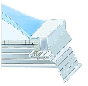 ESSMANN Lichtkuppel-Polycarbonat-Stegplatte 2-schalig 60x 90 cm Polycarbonat 16/7mm Opal