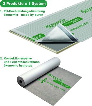 puren Dämmplatte Ökonomic 80 mm Nut/Feder 2400x1020 mm, Berechnungsmaß 2380x1000 mm WLS 027