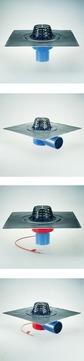 Grumbach Gully Kompakt senkrecht wärmegedämmt DN 70 mm mit Kiesfangkorb Bitumen