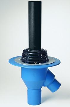 Grumbach Gully Kombi senkrecht wärmegedämmt 100/100 mm mit Kiesfang Klemmflansch Kombidichtung PUR