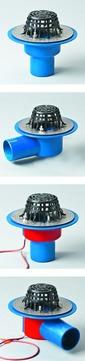 Grumbach universal Gully senkrecht wärmegedämmt 100 mm mit Kiesfangkorb und Kombidichtung PUR