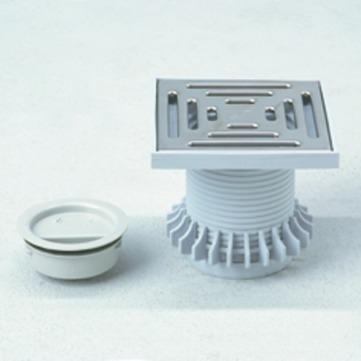 Grumbach Balkongully Aufsatz 10x10 mm ohne Geruchssperre ohne Geruchsperre mit Edelstahlrost PUR