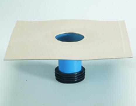 Grumbach Aufstockelement Balkongully wärmegedämmt Klebekragen 6 cm mit Rückstausicherung Bitumen
