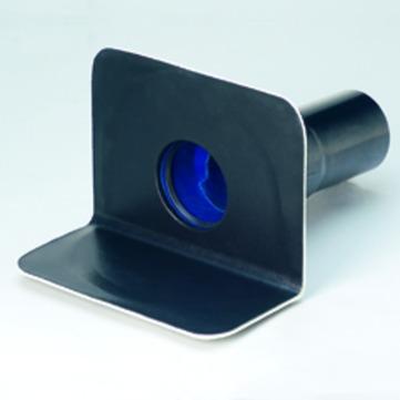 Grumbach Balkonablauf Attika waagerecht wärmegedämmt 100 mm Notüberlauf Einsteckmuffe Bitumen-Anschlusskragen
