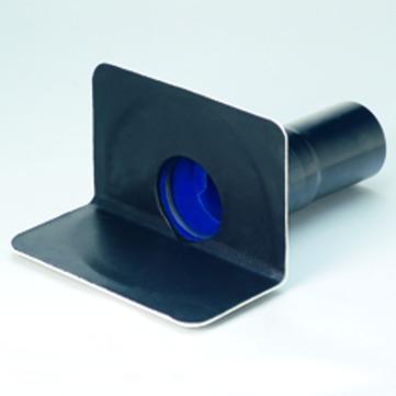 Grumbach Balkonablauf Attika waagerecht wärmegedämmt 100 mm Einsteckmuffe mit Einsteckmuffe Bitumen