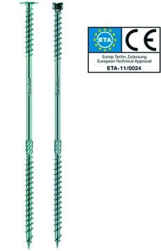 E.U.R.O. Tec Dachbauschraube Topduo 8,0x225mm Tellerkopf TX40 50 Stück im Paket Sonderbeschichtet
