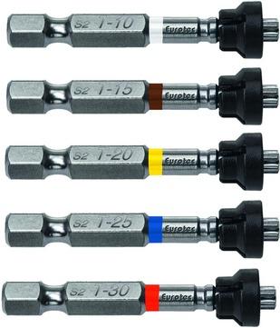 E.U.R.O. Tec Magnet-Bit-Set 50 mm TX 25 5 Stück Blau