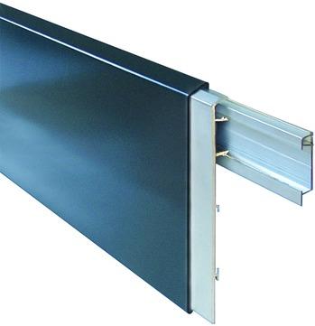 alwitra Wandanschlussprofil WA150 Profil komplett zum Klemmen,m. Zubehör, für genutzte Flächen Aluminium