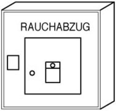 alwitra Lichtkuppel Auslösetaster Typ24 mit Kontrollanzeige Grau