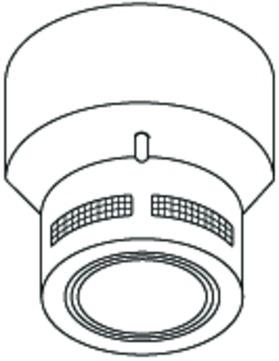 alwitra Lichtkuppel Rauchmelder Weiß