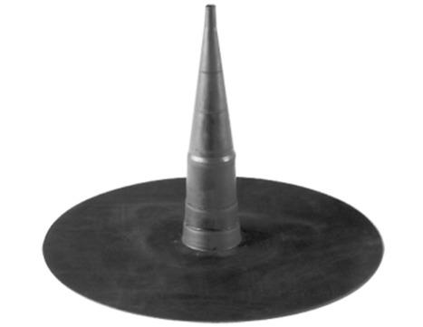 FDT Rhenofol Blitzschutz Dachleiter-Halterung Blitzdurchführung Hellgrau