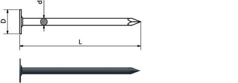Weißenfelser Schiefernagel 2,5x 25 mm großer Knopf 2,5 kg Europanorm EN 10230-1 Feuerverzinkt