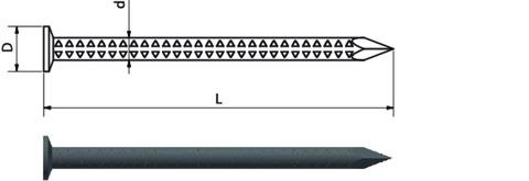 Weißenfelser Rinneisennagel 5,5x100 mm 5,0 kg Europanorm EN 10230-1 Feuerverzinkt